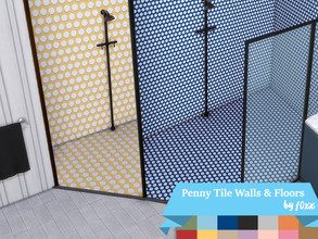 Sims 4 — Penny Mosaic Tiled Walls & Floors Set by f0xx by f0xx — Penny mosaic tiles in a large and small version, for