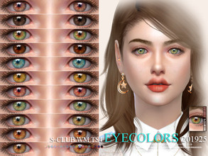 Sims 4 — S-Club WM ts4 Eyecolors 201925 by S-Club — Eyecolors, 17 swatches, hope you like, thank you.
