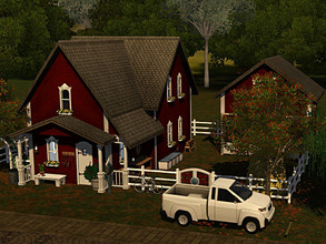 Sims 3 — The Little Cottage and Stable NO CC by sgK452 — Old restored farmhouse with stable. 1 bedroom for parents, 1