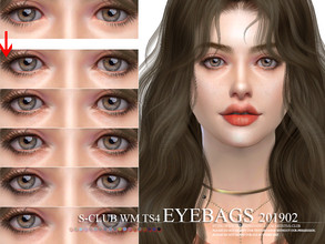 Sims 4 — S-Club WM ts4 Skin Details Eyebags 201902  by S-Club — Eyebags, 12 swatches, hope you like, thank you.