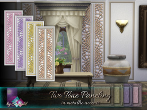 Sims 4 — Two Tone Paneling by Emerald — Two tone paneling can give an attractive and outstanding appearance to your