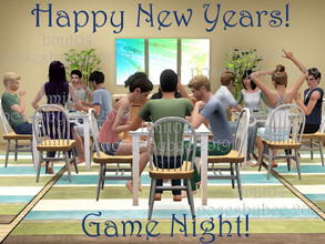 Sims 3 — New Years Party - Game Night! by jessesue2 — Happy New Years! A set for New Years party time. *14 poses *pose