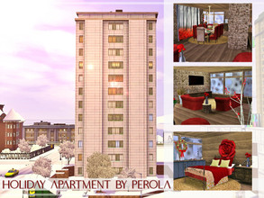 Sims 3 — Holiday Apartment by perolasims — Fabulous apartment with two bedrooms, two bathrooms and more: - two bedroom; -