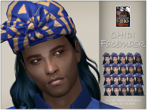 Sims 4 — Chidi facemask by BAkalia — :) Realistic facemask for male sims. It works like a non-default skin but affects