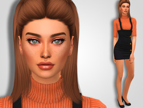 Sims 4 — Rebeca Hines by MSQSIMS — Name : Rebeca Hines Age : Young Adult Aspiration: Successful Lineage Traits: Family