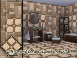 Sims 4 — MB-TrendyTile_Casablanca_SET by matomibotaki — MB-TrendyTile_Casablanca_SET, modern and elegant structural tile
