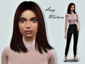 Sims 4 — Amy Watson by Ann16 — List of used CC is below in Creator Notes. My packs: *EXPANSION Get To Work Get Together