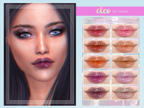 Sims 4 — [ Cleo ] - Lip Colour by Screaming_Mustard — A new glossy lip colour. For females, teen +. With custom thumb