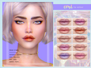 Sims 4 — [ Emi ] - Lip Colour by Screaming_Mustard — A pretty matte lip colour. For females, teen +. With custom thumb