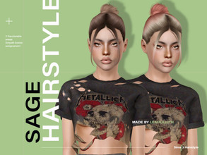 Sims 3 — LeahLillith Sage Hair by Leah_Lillith — Sage Hair All LODs Smooth bones hope you will enjoy