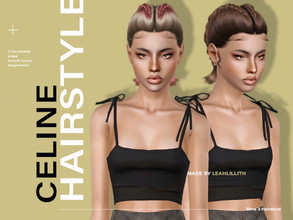 Sims 3 — LeahLillith Celine Hair by Leah_Lillith — Celine Hair All LODs Smooth bones hope you will enjoy^^