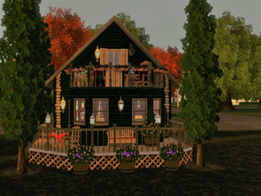 Sims 3 — tiny green chalet by sgK452 — Adorable and tiny Chalet, for one person. Ideal for a single person who loves