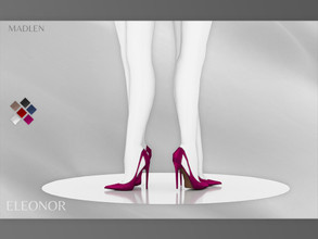 Sims 4 — Madlen Eleonor Shoes by MJ95 — Mesh modifying: Not allowed. Recolouring: Allowed (Please link the mesh in the