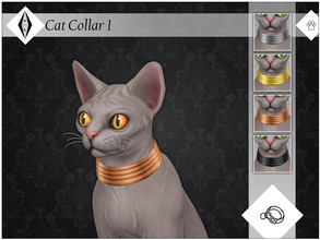 Sims 4 — Cat Collar 1 - EP04 Needed by AleNikSimmer — A very old collar I made for my Supersim legacy Sphynx cats and I