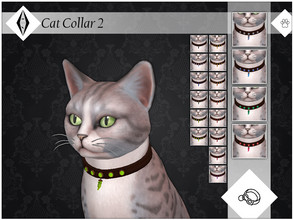 Sims 4 — Cat Collar 2 - EP04 Needed by AleNikSimmer — Collar I made for cat familiars to go along with my crystal