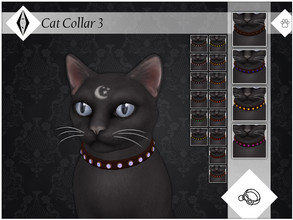 Sims 4 — Cat Collar 3 - EP04 Needed by AleNikSimmer — Second version of my crystal collar inspired by Realm of Magic.