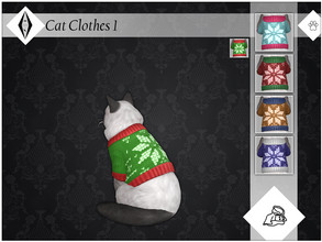 Sims 4 — Cat Clothes 1 - EP04 Needed by AleNikSimmer — A very simple sweater recolor I made an year ago for winter but