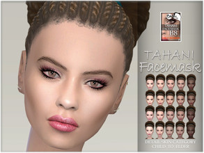 Sims 4 — Tahani facemask by BAkalia — Hello :) Realistic facemask for female sims. It works like a non-default skin but