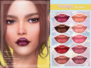 Sims 4 — [ Merope ] - Lip Colour by Screaming_Mustard — A super shiny lip colour with high gloss. For females, teen +.