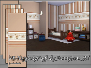 Sims 4 — MB-HiggledyPiggledy_FunnyBear_SET by matomibotaki — MB-HiggledyPiggledy_FunnyBear_SET, 4 lovely solid wallpapers
