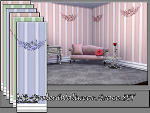 Sims 4 — MB-OpulentWallwear_Grace_SET by matomibotaki — MB-OpulentWallwear_Grace_SET, 2 elegant striped wallpapers with