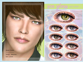 Sims 4 — [ Sea Glass ] - Eye Mask by Screaming_Mustard — A new shiny eye mask. For males and females, toddler +. With