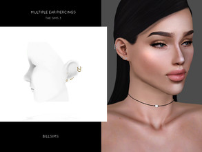 Sims 3 — Multiple Ear Piercings by Bill_Sims — New Mesh Polycount: 2k Female, Teen-Elder Fully Recolorable Launcher &