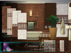 Sims 4 — Ceramic Field Tile in clam shell pink by Emerald —  Try these style variations to create a unique look from