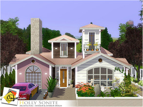 Sims 3 — Holly Sonite by Onyxium — On the first floor: Living Room | Dining Room | Kitchen | Bathroom | Adult Bedroom |