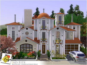 Sims 3 — Jad Eite by Onyxium — On the first floor: Living Room | Dining Room | Kitchen | Bathroom | Garage On the second