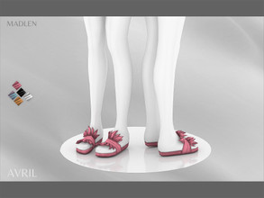 Sims 4 — Madlen Avril Shoes by MJ95 — Cute slippers with fur details. Mesh modifying: Not allowed. Recolouring: Allowed