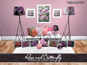 Sims 4 — Rose and Butterfly Decor Collection {Mesh Required} by neinahpets — A lovely decor accent set to accompany the