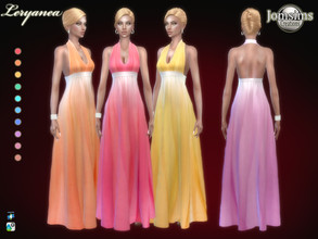 Sims 4 — Leryanea dress by jomsims — Leryanea dress Sims 4 for her in 10 shades long chiffon chiffon dress. sweet and