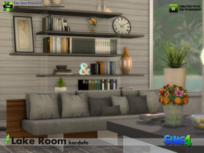 Sims 4 — kardofe_Lake Room by kardofe — Furniture to recreate a minimalist style room with three sofa options, a