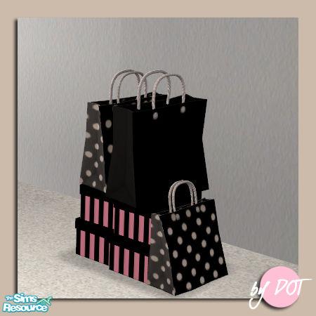 Shopping Bag Box Blackdot