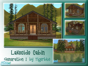Sims 2 — Lakeside Cabin by Tigerblue — *REQUIRES BV ONLY* A cosy cabin on the lake. Perfect for holidays or for use as a