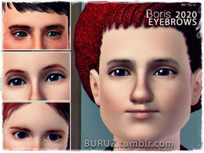 Sims 3 — Boris 2020 Eyebrows - Buruz by Buruz — Eyebrows for all genders / all ages. Please, do not reupload it. The Sims