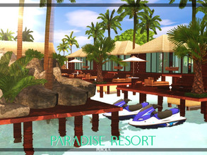 Sims 3 — Paradise Resort by perolasims — Paradise resort for your Sims to have fun during the summer or on vacation. It