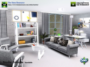 Sims 3 — kardofe_ Studio Zanotta by kardofe — Studio with two areas, one for work and the other for relaxation or