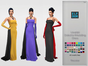 Sims 4 — Laupipi Dakota Wedding Dress RC by Elfdor —  Its a standalone recolor of Laupipi gown and you will need the