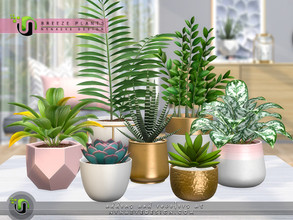 Sims 4 — Breeze Plants by NynaeveDesign — Add life and greenery to any dull corner of your sim's home with these
