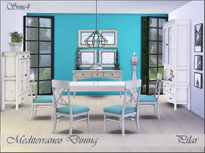 Sims 4 — Mediterraneo Dining by Pilar — The light of the Mediterranean