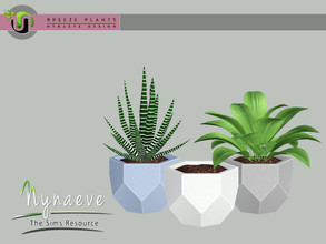 Sims 3 — Breeze Geometric Planter by NynaeveDesign — Breeze Plants - Geometric Planter Found Under: Decor - Plants Price: