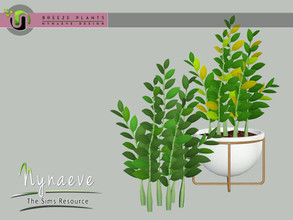 Sims 3 — Breeze ZZ Plant by NynaeveDesign — Breeze Plants - ZZ Plant Found Under: Decor - Plants Price: 71 Tiles: 1x1