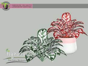 Sims 3 — Breeze Aglaonema Plant by NynaeveDesign — Breeze Plants - Aglaonema Found Under: Decor - Plants Price: 71 Tiles: