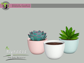 Sims 3 — Breeze Simple Planter by NynaeveDesign — Breeze Plants - Simple Planter Found Under: Decor - Plants Price: 71