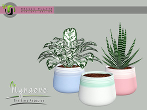 Sims 3 — Breeze Painted Planter by NynaeveDesign — Breeze Plants - Painted Planter Found Under: Decor - Plants Price: 71
