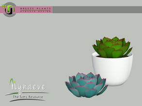 Sims 3 — Breeze Echeveria by NynaeveDesign — Breeze Plants - Echeveria Found Under: Decor - Plants Price: 71 Tiles: 1x1