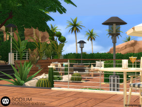 Sims 4 — Sodium Outdoor Extras by wondymoon — Sodium Modern Outdoor Extras part of big outdoor project; Living, Dining,