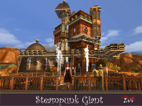 Sims 4 — Steampunk Giant by evi — A family house built and decorated with steampunk items. Ist floor Livingroom A ,